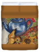 Still Life With Blue Teapot One Duvet Cover