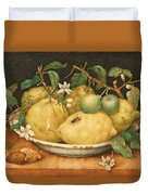 Still Life With Bowl Of Citrons Duvet Cover