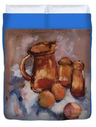 Still Life With Brown Pitcher Duvet Cover