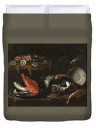 Still Life With Fish And Oysters  Duvet Cover