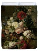 Still Life With Flowers, 1789 Duvet Cover