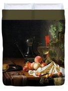 Still Life With Fruit Duvet Cover