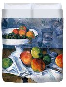 Still Life With Fruit Dish Duvet Cover