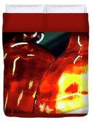 Still Life With Glass Vases. Duvet Cover