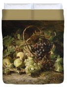 Still-life With Grapes And Pears Duvet Cover