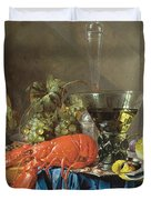 Still Life With Lobster 1655 Duvet Cover