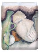 Still Life With Mask Duvet Cover