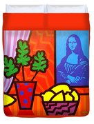 Still Life With Matisse And Mona Lisa Duvet Cover