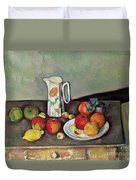 Still Life With Milkjug And Fruit Duvet Cover