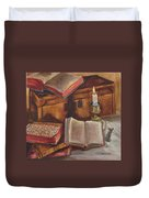Still Life With Old Books Duvet Cover