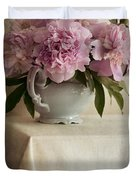 Still Life With Pink Peonies Duvet Cover