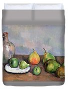Still Life With Pitcher And Fruit Duvet Cover by Paul Cezanne