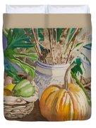 Still Life With Pumpkin Duvet Cover
