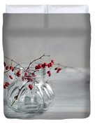 Still Life With Red Berries Duvet Cover
