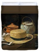Still Life With Straw Hat, By Vincent Van Gogh, 1881, Kroller-mu Duvet Cover