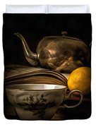 Still Life With Tea Cup Duvet Cover