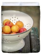 Still Life With Yellow Plums  Duvet Cover