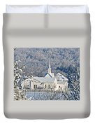 Still The Little White Church In Peoria Duvet Cover