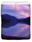 Stillness At Lillooet Lake  Duvet Cover