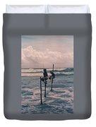 Stilt Fishermen Of Sri Lanka Duvet Cover