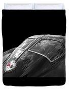 Stingray Split Window 1963 In Black And White Duvet Cover