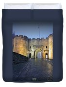 Stirling Castle Scotland In A Misty Night Duvet Cover