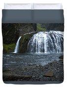 Stjornarfoss Waterfall - Iceland Duvet Cover