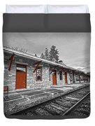 Stockbridge Train Station Duvet Cover