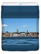 Stockholm From Lake Malaren Duvet Cover
