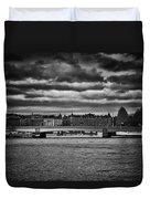 Stockholm In Black And White Duvet Cover