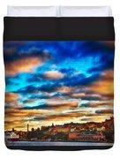Stockholm In Bold Colors Duvet Cover
