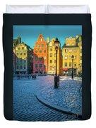 Stockholm Stortorget Square Duvet Cover