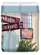 Stockyards Fort Worth 6815 Duvet Cover