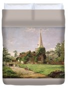 Stoke Poges Church Duvet Cover by Jasper Francis Cropsey