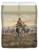 Stolen Horses Duvet Cover by Charles Marion Russell