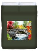 Stone Bridge In Maine  Duvet Cover