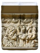 Stone Carving On Mausoleum Of The Julii Duvet Cover