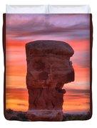 Stone Face Sunset Duvet Cover