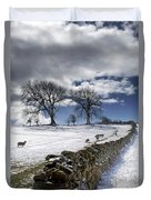 Stone Fence, Weardale, County Durham Duvet Cover
