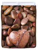 Stone Heart Duvet Cover by Garry Gay