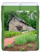 Stone House Fishers Indiana Duvet Cover