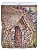 Stone House In Skagit County Duvet Cover