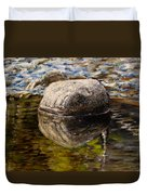 Stone Landscape Original Oil Painting Duvet Cover