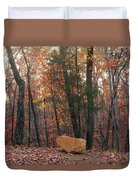 Stone Leaves And Trees Duvet Cover