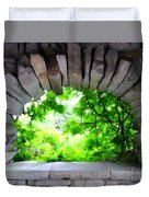 Stone Lookout Duvet Cover