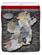 Stone Map Of Ireland Duvet Cover