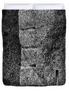 Stone Mason Scars Monochrome Duvet Cover