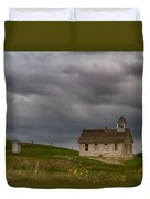 Stone Schoolhouse Duvet Cover