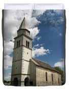 Stone Tile Roof Of The Church Of The Holy Cross In Tomaj Parish  Duvet Cover