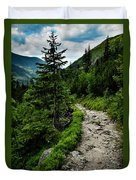Stone Walkway Into The Valley Duvet Cover